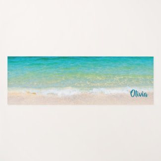 Pleasant Beach (with personalized name) Yoga Mat