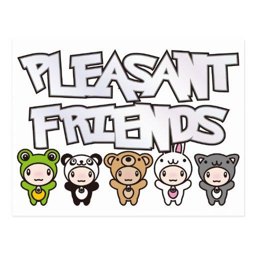 Pleasant_Friends Tarjeta Postal