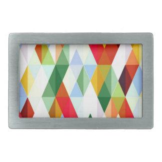 Pleasant june,colorful rectangular belt buckle