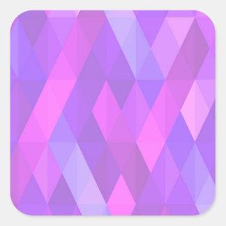 Pleasant june,pink square sticker