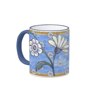 Pleasant Posy Ringer Coffee Mug