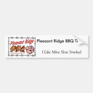 Pleasant Ridge BBQ Vert T, I Like Mine Slow Smo... Bumper Sticker