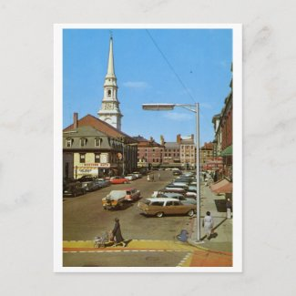 Pleasant St., Portsmouth, NH Vintage postcard
