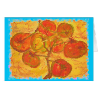 pleasant thoughts and homegrown tomatoes card