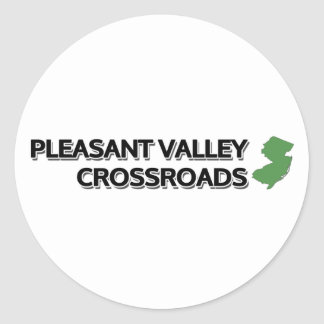 Pleasant Valley Crossroads, New Jersey Classic Round Sticker
