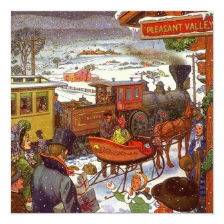 PLEASANT VALLEY DEPOT ~ HOLIDAY PARTY INVITATIONS