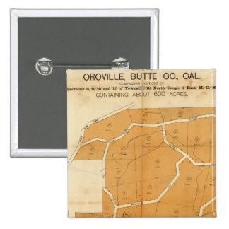 Pleasant Valley Tract, Oroville, California 2 Inch Square Button