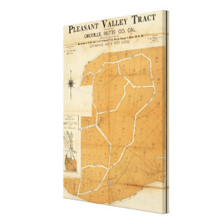 Pleasant Valley Tract, Oroville, California Canvas Print