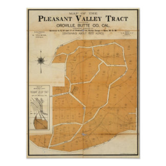 Pleasant Valley Tract, Oroville, California Poster
