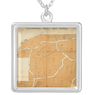Pleasant Valley Tract, Oroville, California Square Pendant Necklace
