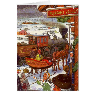 Pleasant Valley Train Sta Christmas Holiday Card