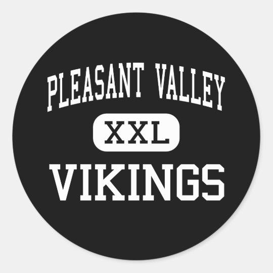Pleasant Valley - Vikings - High - Chico Classic Round Sticker