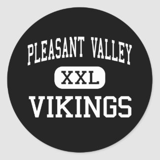 Pleasant Valley - Vikings - High - Chico Round Stickers