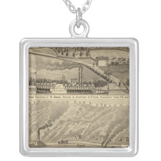 Pleasant View Farm Silver Plated Necklace
