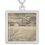 Pleasant View Farm Square Pendant Necklace