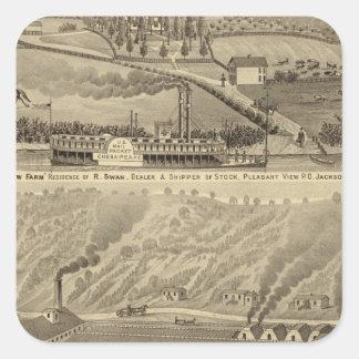 Pleasant View Farm Square Sticker