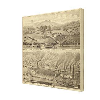 Pleasant View Farm Stretched Canvas Prints
