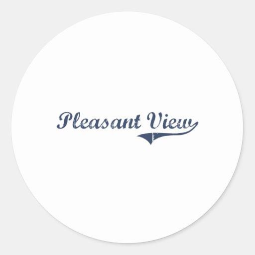 Pleasant View Utah Classic Design Classic Round Sticker