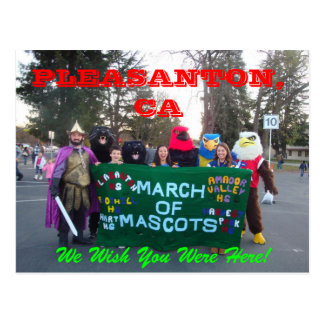 Pleasanton March of Mascots 2011 Postcard