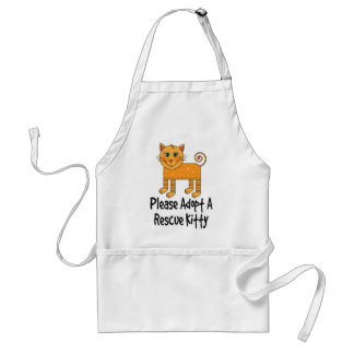 Please Adopt A Rescue Kitty Cat Gift Adult Apron