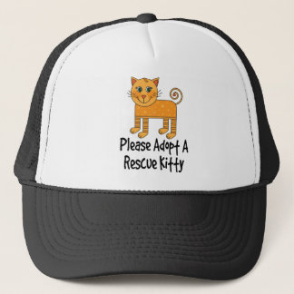 Please Adopt A Rescue Kitty Cat Gift Trucker Hat
