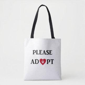 """Please Adopt"" Animal Tote Bag"