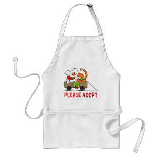 Please Adopt Patch n Rusty Christmas Wagon Adult Apron