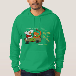 Please Adopt Patch n Rusty Home for Christmas Hoodie