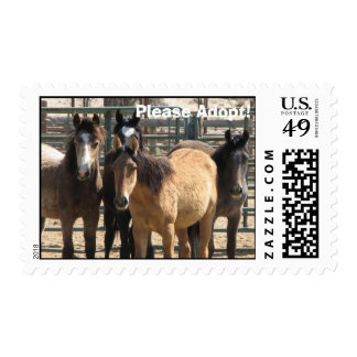 Please Adopt! Postage Stamp