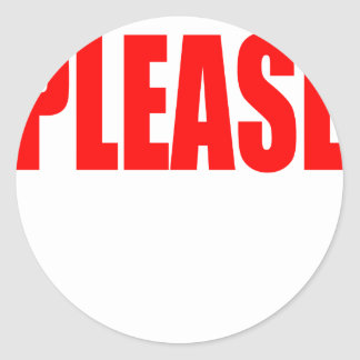 please asking permission cherry ontop husband wife classic round sticker