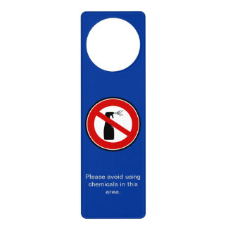Please avoid using chemicals door knob hanger
