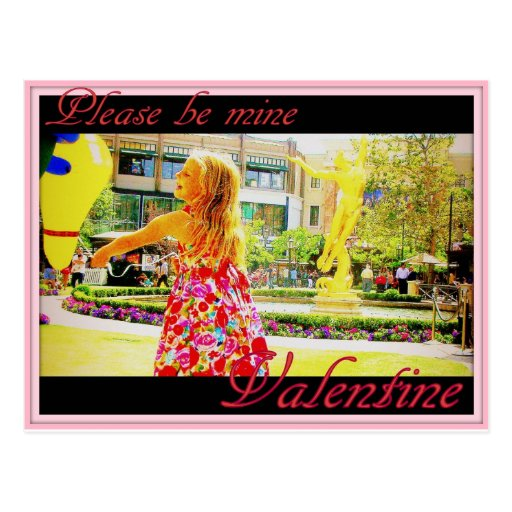 """Please be mine, Valentine"" Postcard"