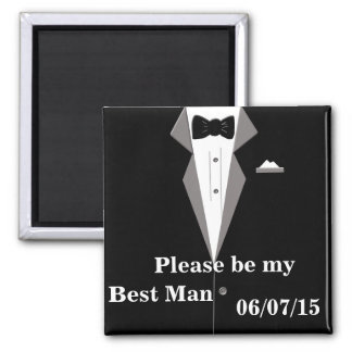 Please be my Best Man Save the Date Magnet