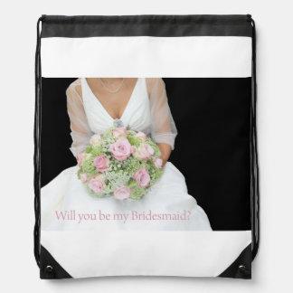 Please be my Bridesmaid? Drawstring Bag