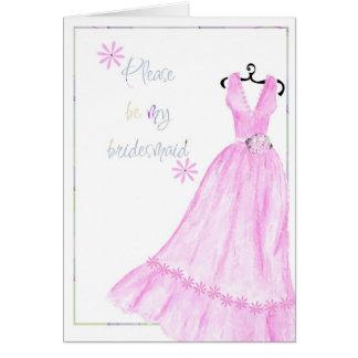 Please be my bridesmaid greeting card