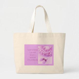 Please be my Bridesmaid? Large Tote Bag