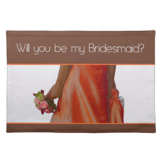 Please be my Bridesmaid? Placemat