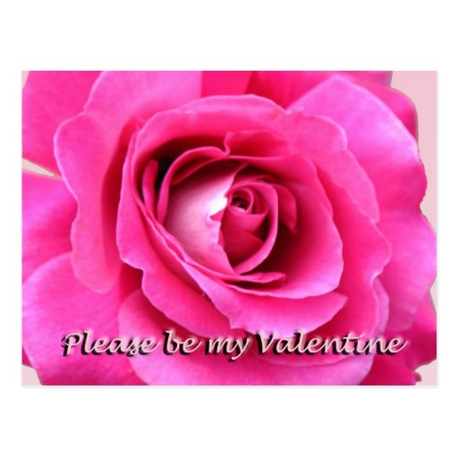 Please be my Valentine Post Card