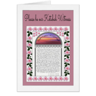 Please Be Our Ketubah Witness Card