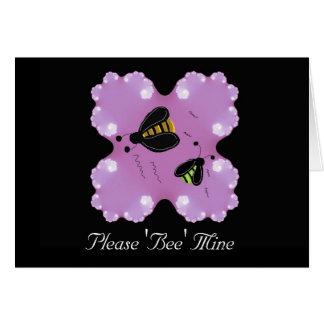 Please 'Bee' Mine Valentine Greeting Cards