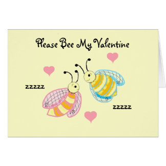 Please Bee My Val... Greeting Cards