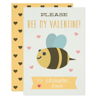 Please Bee My Valentine Card