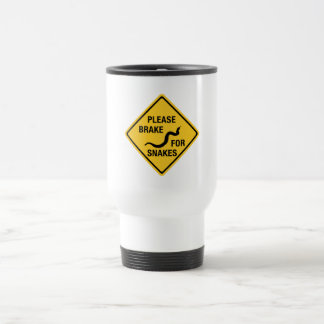 Please Brake For Snakes, Traffic Sign, Canada Travel Mug