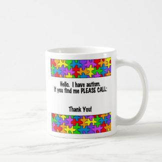 Please Call Autism ID Tag Coffee Mug