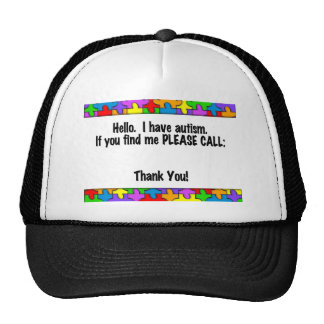 Please Call Autism ID Tag Trucker Hat
