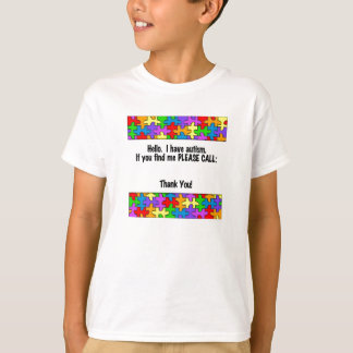 Please Call Autism ID Tag T-Shirt