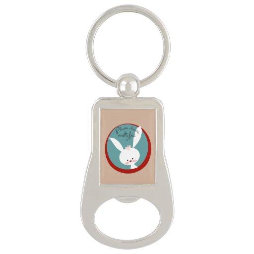 please choose cruelty free keychain bottle opener zazzle. Black Bedroom Furniture Sets. Home Design Ideas