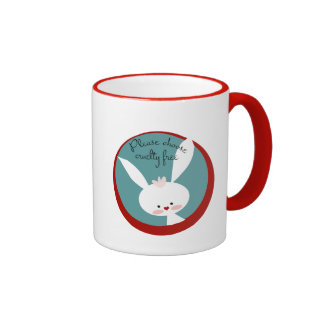 Please Choose Cruelty Free Ringer Coffee Mug