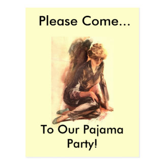 Please Come..., To Our Pajama Party! Postcard
