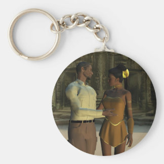 Please come with me basic round button keychain